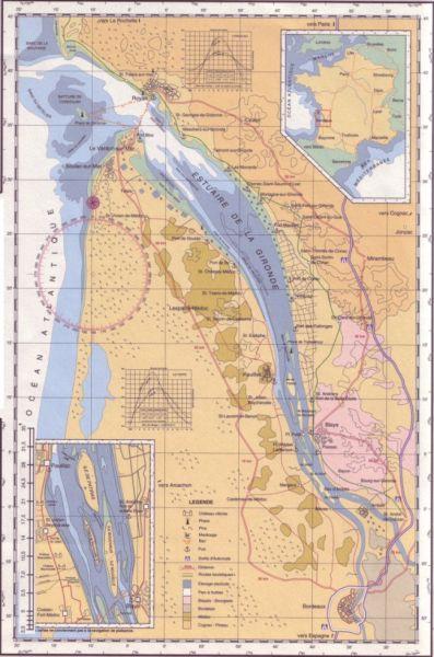 carte estuaire Gironde