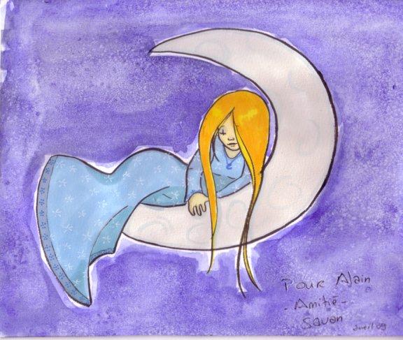 fanart Savon petite dame dans la Lune