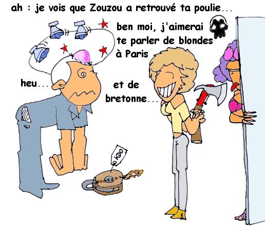 poulie, blondes et bretonne
