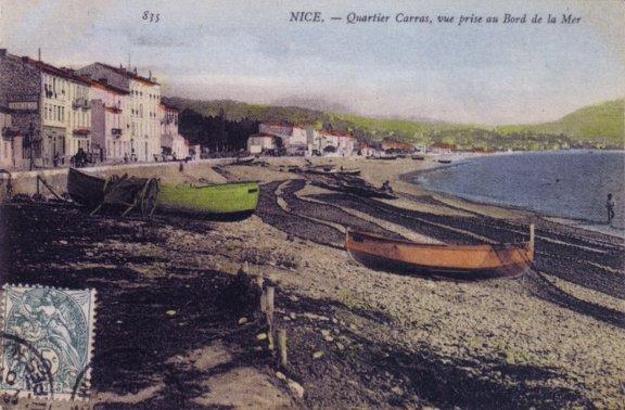 pointus à Nice, plage de Carras