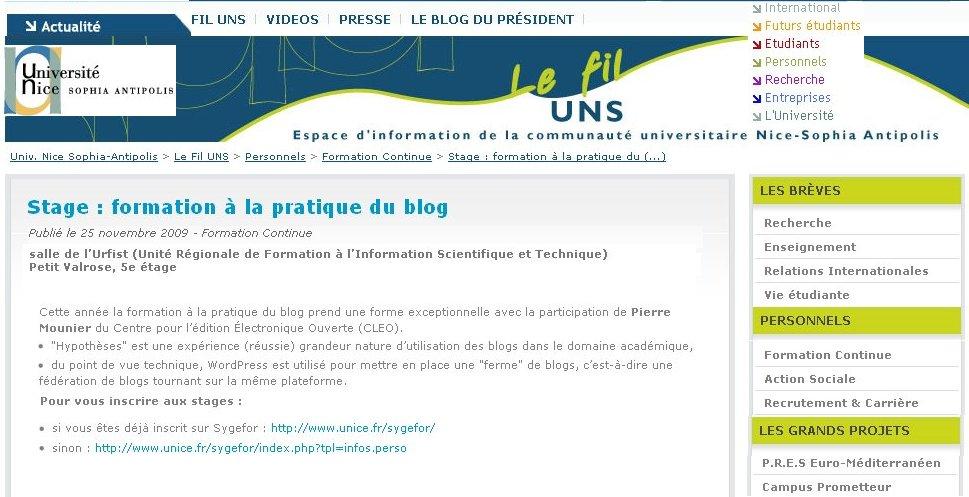 séminaire blog