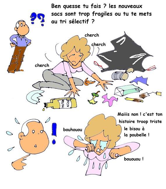 bisous poubelle